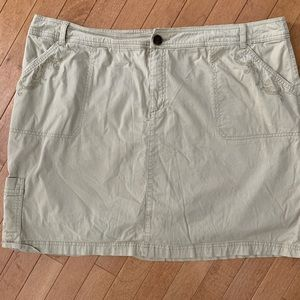 CROFT & BARROW Size 20W Tan Khaki Skort